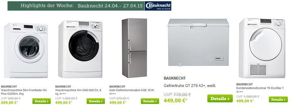 Bauknecht Bauknecht   Waschmaschinen, Kühlschränke und mehr zu günstigen Preisen bei Brands4Friends