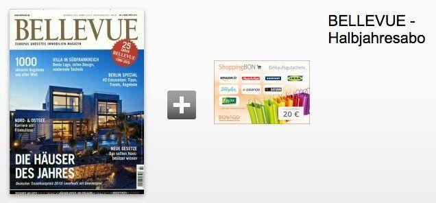 Bellevue Halbjahresabo für 20,70€ + 20€ Gutscheinprämie