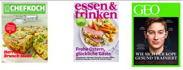 Tolle e mags über Ostern billiger: Brigitte, Gala, Stern, VIEW, GEO etc.