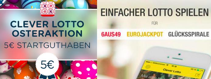 5€ Gutschein für Lotto: Clever Lotto iOs App Aktion zu Ostern