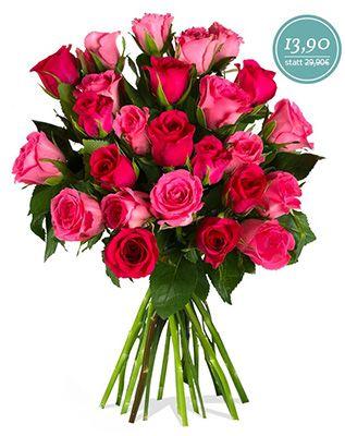 Rosenstrauß Vivien mit 25 pinkfarbenen Rosen für 19,80€