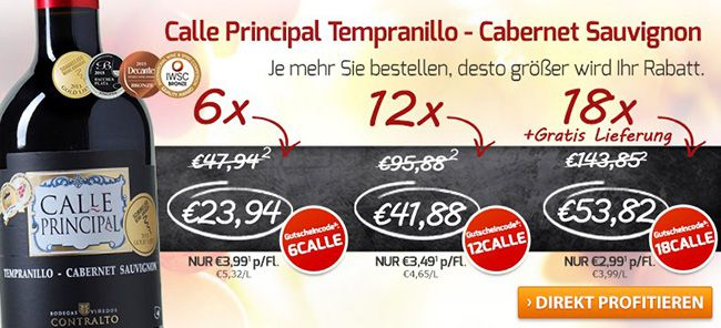 Bodegas Vinedos Contralto Calle Principal Rotwein ab 28,89€