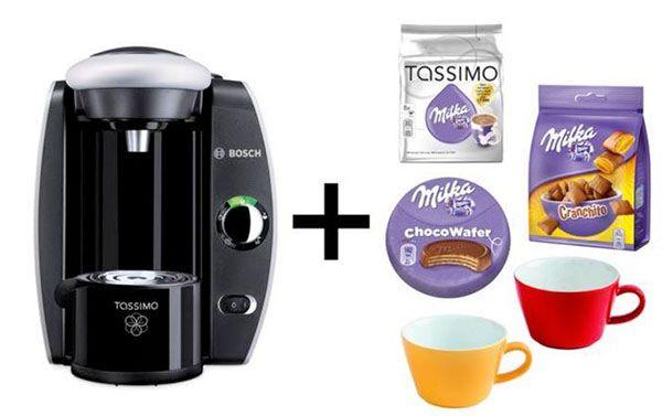 Bosch Tassimo Fidelia + Milka Paket + Kahla Tassen für 27,90€