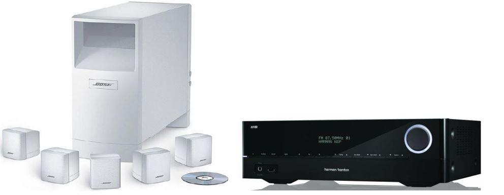 Bose1 Harman Kardon AVR 171   7.2 AV Receiver + BOSE Acoustimass 6 Weiß für 799€ bei den Cyberport Weekend Deals