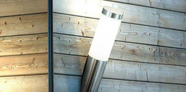Boston Außenleuchte mit Edelstahl Zylinder für 9,99€   E27, 60W, IP44