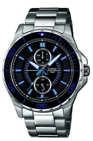 Casio XL Edelstahl MTD 1077D 1A1VEF Herren Armbanduhr für 62,99€