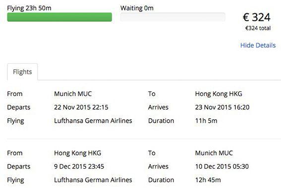 Hin  und Rückflug nach Hongkong per Lufthansa ab 324€ bei Chimpando – z.B. von München oder Frankfurt a.M.