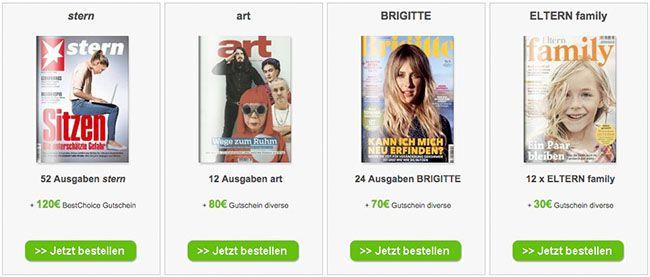 DPV Jahresabos mit bis zu 120€ Prämie   z.B. Stern für effektiv 82,80€ dank 120€ Bestchoice Gutschein   Update