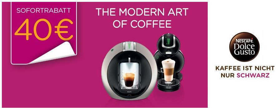 Dolce Gusto MASCHINEN Dolce Gusto, Tassimo, TCHIBO CAFISSIMO und KRUPS Kaffee Maschinen   Rabatt und Cashbackaktionen @ Amazon