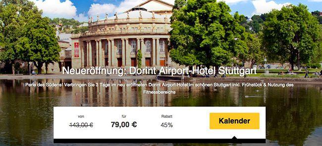 2 Übernachtungen im Dorint Airport Hotel Stuttgart + Frühstück für 79€ pro Person