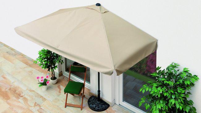 EasyMaxx Balkon Sonnenschirm (halbeckig) für 34,94€