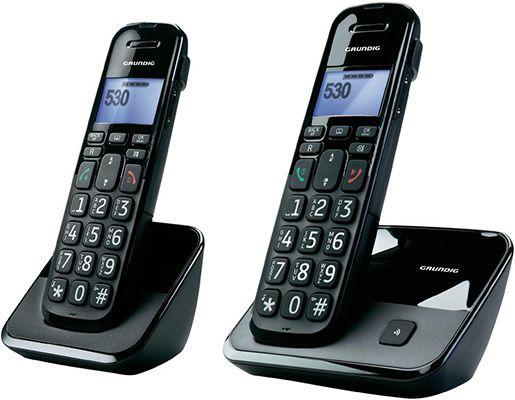 Grundig D530 Duo schnurloses DECT Telefon Set für 43,79€
