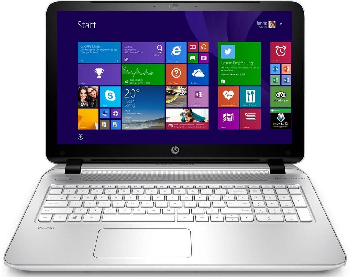 HP Pavilion 15 p161ng Notebook mit AMD Radeon R7, 8GB, 500GB und Win 8.1 für 329€