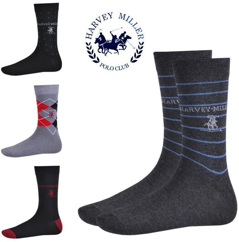 Harvey Miller 12er Pack Herren Business Socken für 14,95€