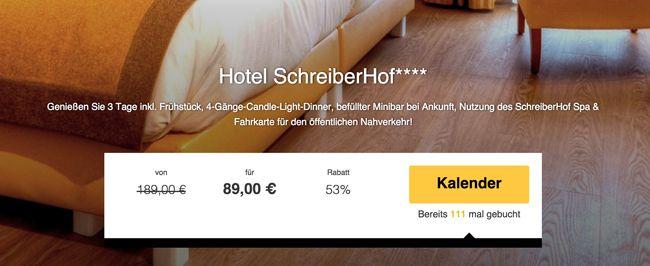 München: 2 Übernachtungen im 4 Sterne SchreiberHof Hotel + Frühstück + 4 Gänge Candle Light Dinner für 89€ p.P.