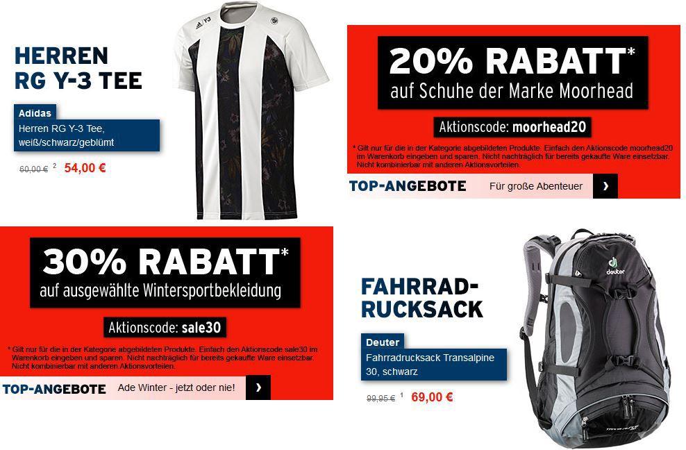 Karstadt Sports mit 10€ Gutschein ab 60€ MBW auf (fast) alle Artikel