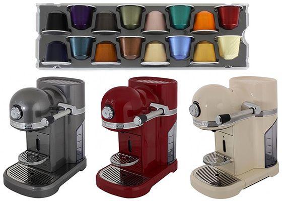 Kitchenaid 5KES0503 Nespresso Kapselmaschine + 100 Kapseln für 299,90€