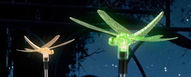 LED SOlarleuchten Verschiedene LED Garten Solarleuchten für 8,99€   z.B. Libelle, Kolibri, Gartenzwerg oder Engel mit Harfe