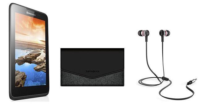 Lenovo A7 40 Lenovo A7 40 7 Zoll Tablet 8GB + Samsonite Schutzhülle + JBL JL10 Ohrhörer für 69€
