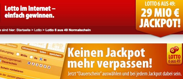 Lotto Tipp24 für Neukunden: 7 Felder Lotto 6 aus 49 zum Preis von nur 1,50€   Jackpot 29.000.000€