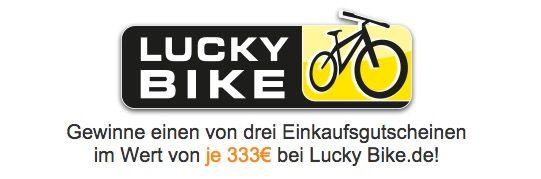 Lucky Bike Gewinnspiel Gewinnspiel! Wir verlosen drei 333€ Lucky Bike.de Gutscheine