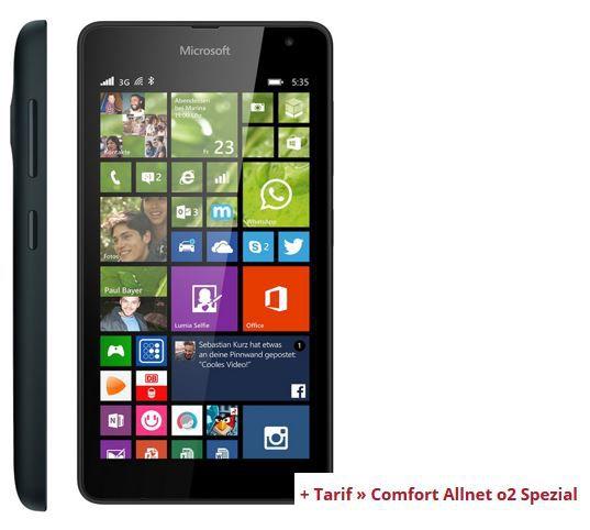 Lumia 535 Microsoft Lumia 535 + Comfort Allnet o2 Spezial + 500MB Daten für 12,20€mtl.