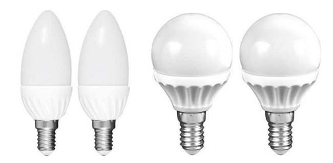 Müller LED 4er Set Müller LED Leuchten 3W E14 für 9,99€   E14 in Tropfen  oder Kerzenform