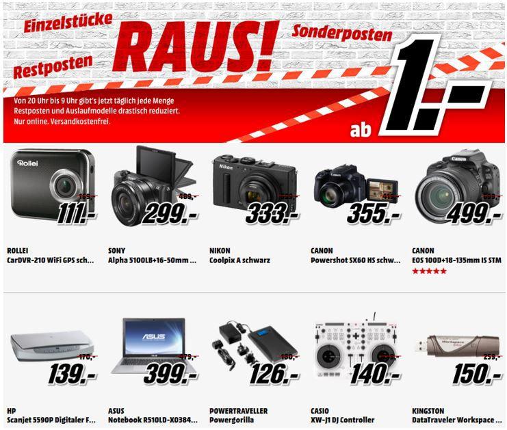 Media Markt Sonderposten Sony Alpha 5100 16 50mm Kit für 299€ bei der Einzelstücke und Restposten Aktion beim MediaMarkt