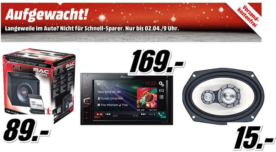 MediaMarkt Mac Audio Mac Xtreme 2000 Kit für 89€ in der MediaMarkt Aktion