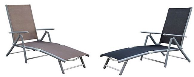 Merxx Sonnenliege mit Aluminium /Stahlgestell für 43,99€   4 fach verstellbar!