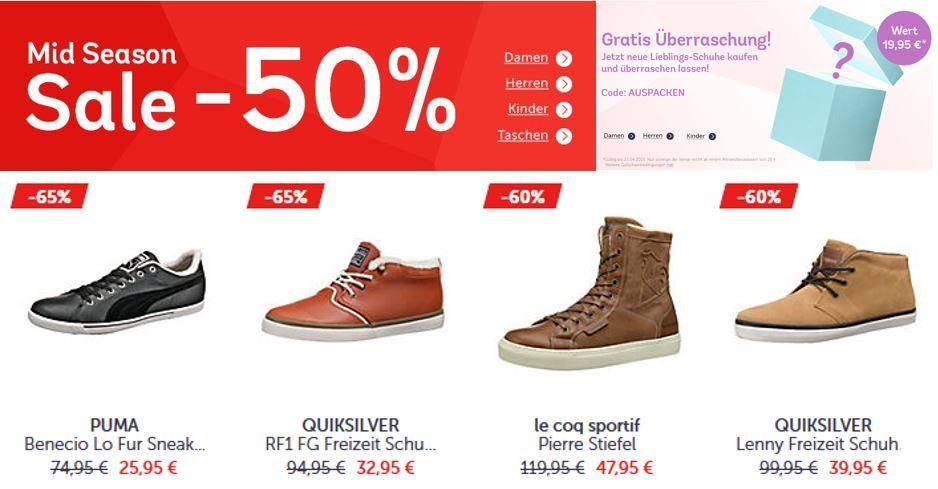 Mirapodo Sale Mirapodo Mid Season Sale mit bis zu 50% Rabatt und mehr + Gutscheine!