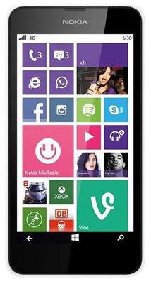 Nokia Lumia 630   4,5 Zoll Single Sim Smartphone (B Ware) für 45€ (statt 110€)