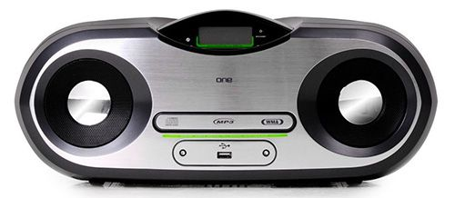 One AP124 One AP124 Stereo CD Boombox für 34,90€   UKW/PLL Tuner, CD/MP3 Player, USB