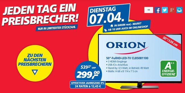 Orion CLB50B1100   50 Zoll Full HD Fernseher mit Dual Tuner ab 299€