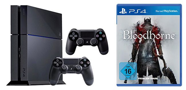 PS4 Bundle Bloodborne Sony Playstation 4 500GB + 2. Controller + Bloodborne für 399€   Update
