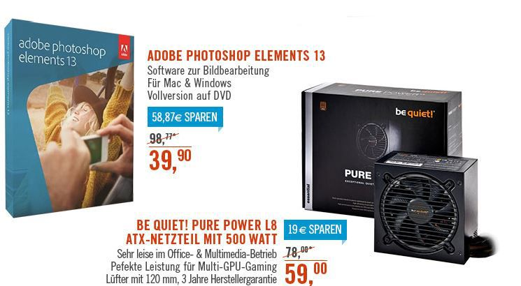 Photoshop Adobe Photoshop Elements 13 Mac/Win für 39,90€ bei den Cyberport Weekend Deals   update