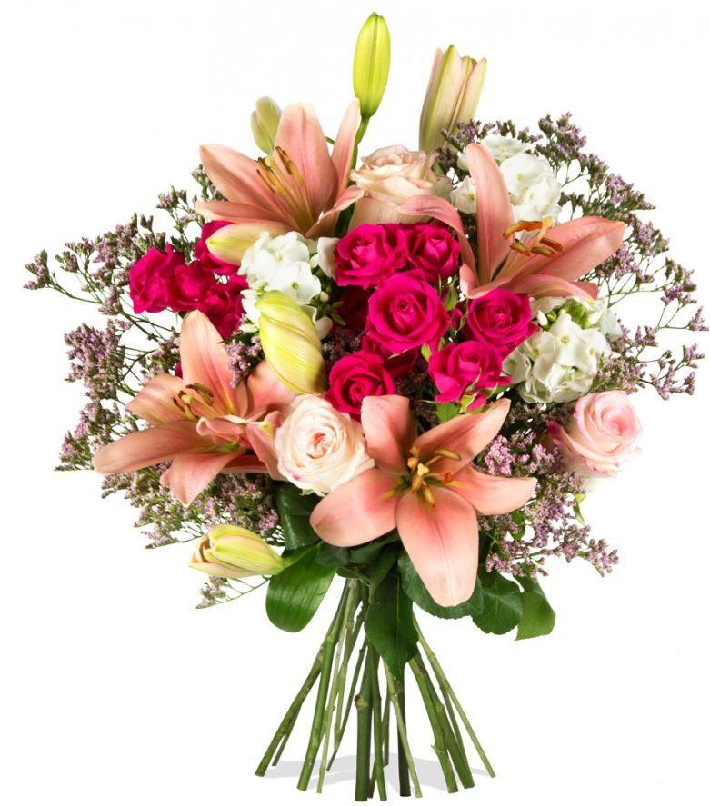 Pink Collection   Blumenarrangement mit rosa Lilien dank 20% Rabatt bei Miflora für 29,82€   Update