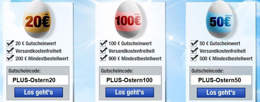 PLUS.de mit 2 Tage Oster Sofort Rabatt Aktion!