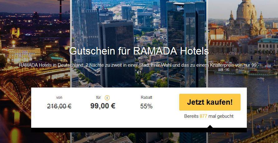 Ramada hotelgutschein