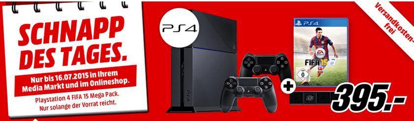 PlayStation 4 + 2. Controller + Kamera und FIFA 15 für nur 395€ Update