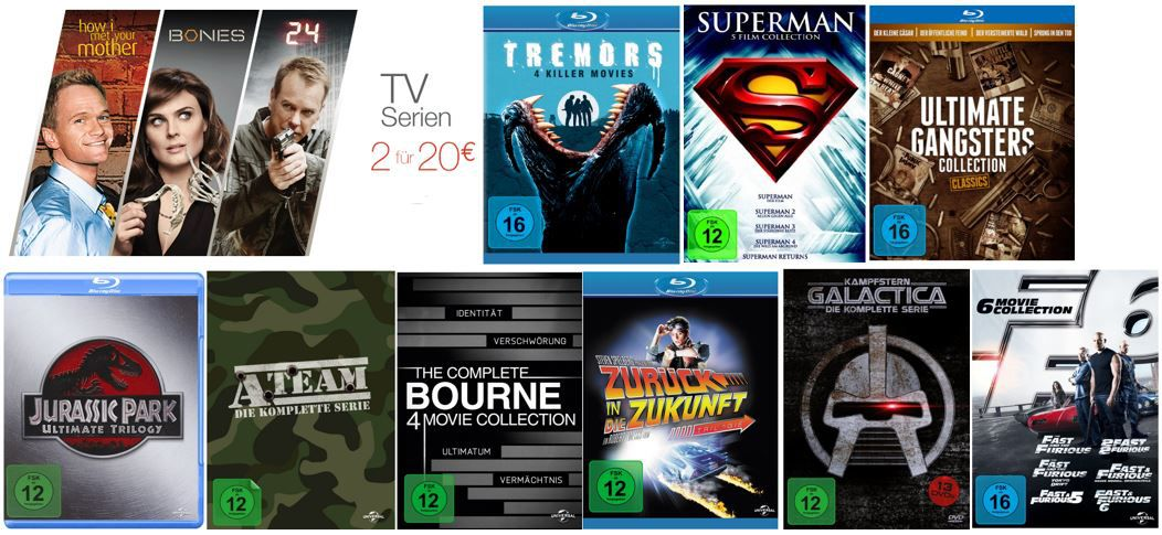 Serien zum Bestpreis The Complete Bourne 4 Movie Collection ab 16,97€ und mehr Top Amazon DVD oder Blu ray Angebote