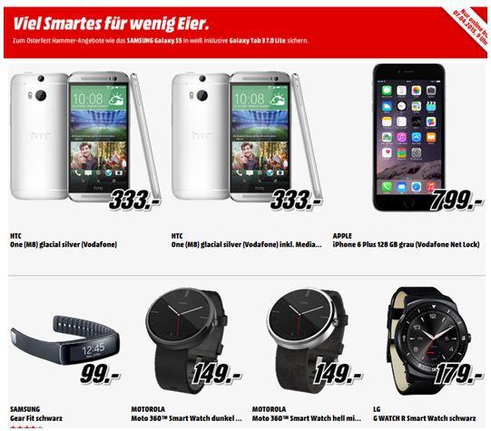 MOTOROLA MOTO 360 Smart Watch für nur 149€ bei der MediaMarkt Smartphone Aktion