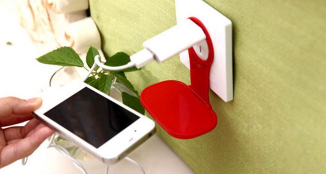 Smartphone Ablage für die Steckdose für 0,73€   China Gadget!