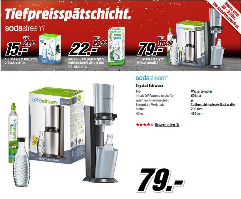 SODASTREAM Crystal Wassersprudler komplett System für 79€   Update!