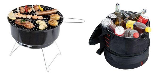 Suntec PBQ 9509 Holzkohle Grill mit Kühltasche für 12,99€