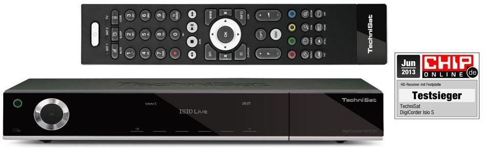 TechniSat DigiCorder ISIO S1   HDTV TWIN Satellitenreceiver mit 1TB Festplatte für 349€