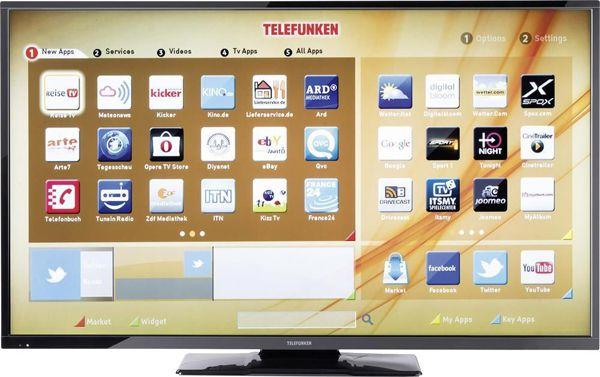 Telefunken D49F283N3C Telefunken D49F283N3C   49 Zoll Full HD Fernseher mit WLAN und Triple Tuner für 284€