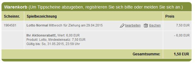 Tipp24: Hammer Neukunden Aktion mit 7 Felder Lotto 6 aus 49 für 1,50€