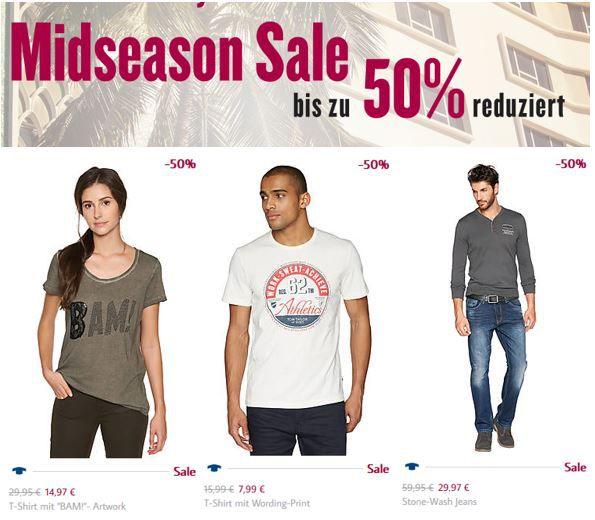 Tom Tailor 50% Rabatt Sale + 20€ Extra Rabatt ab 100€ Einkaufwert   Update!