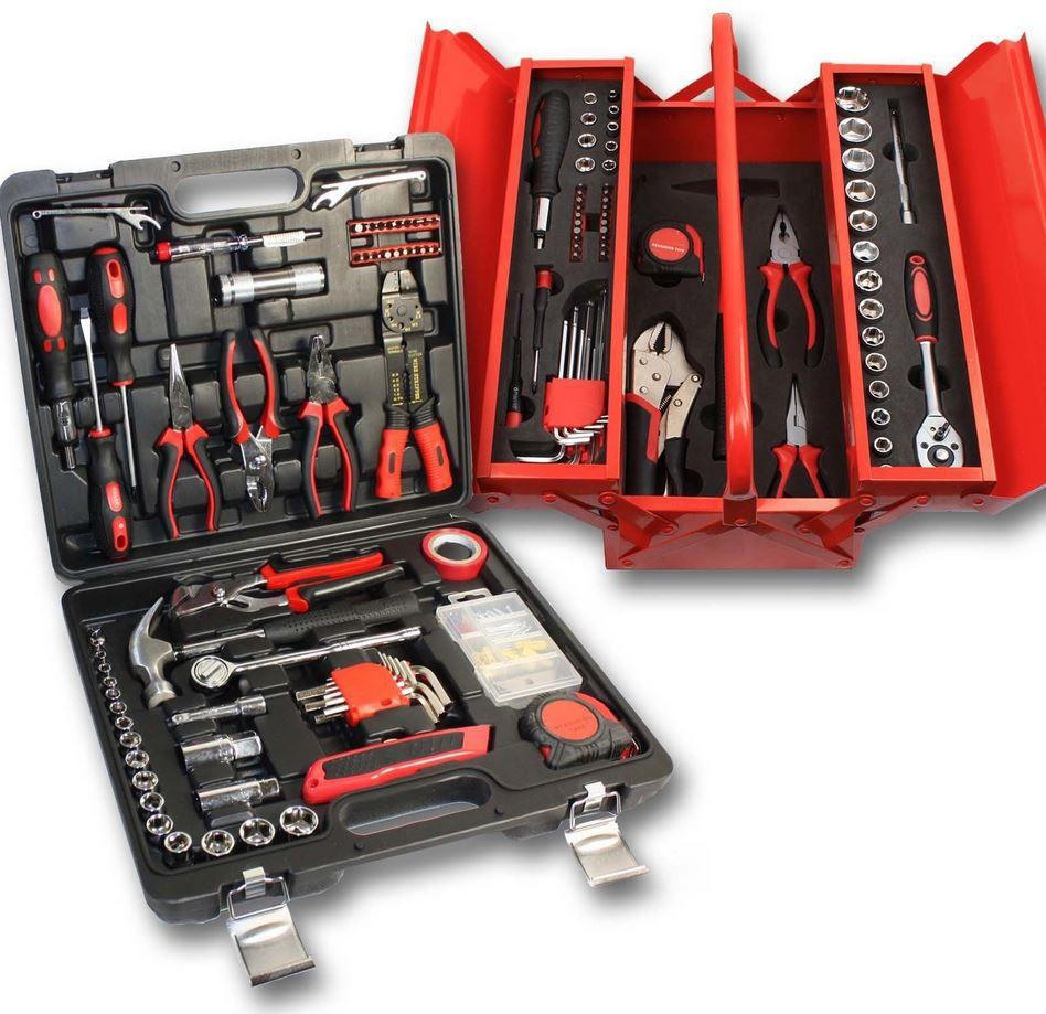 Werkzeugkiste mit 179 Teilen in 2 Ausführungen für je 33€